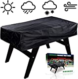 NEVERLAND Foosball Table Cover, Outdoor Waterproof Dust Rectangular Patio Coffee Chair Billiard Soccer Cover Silver 63 x 45 x 19.7inch