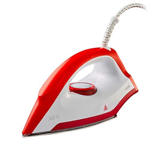 AEG LB1300 Plancha Seco, Control de Potencia, Suela Acero Inoxidable, Mango Ergonómico, Longitud cable de 1.9m, 1.3 W, Rojo