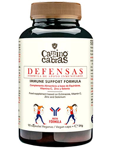 DEFENSAS – Fórmula de Apoyo Inmunitario. Potente antioxidante con Vitamina C, Equinácea, Zinc y Selenio. Protección Plus Sistema Inmune. 90 cápsulas veganas 100% natural.