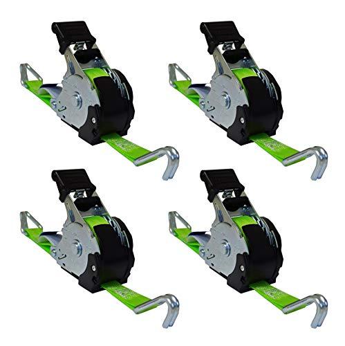 SHZ 4 x Automatik Spanngurt/Automatischer Zurrgurt Spitzhaken 3,5 m x 25mm 340daN selbstaufrollend (49)