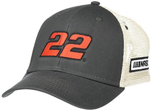 Ouray Sportswear NASCAR Soft Mesh Sideline Cap Joey Logano, Dark Grey/Natural, Adjustable
