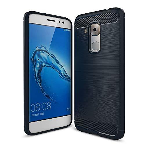 König Design Handy-Hülle kompatibel mit Huawei Nova Plus Silikon Hülle Hülle Sturzsichere Back-Cover Handyhülle - Carbon - Blau