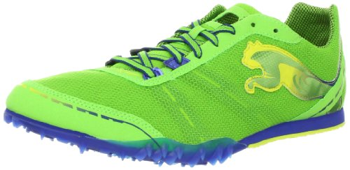 PUMA Men's TFX Distance V4 Track Shoe,Jasmine Green/Monaco Blue/Fluorescent,7 D US