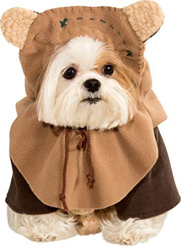 Star Wars - Disfraz de Ewok para mascota, Talla S perro (Rubie\'s 887854-S)