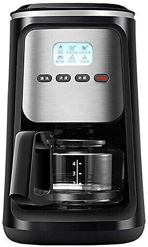 Dsnmm Volledige Automatische Slijpen Koffiemachine, Bonen Poeder Dual-Purpose Amerikaanse Koffiemachine Koffiemachine Automatische Reiniging 600ML