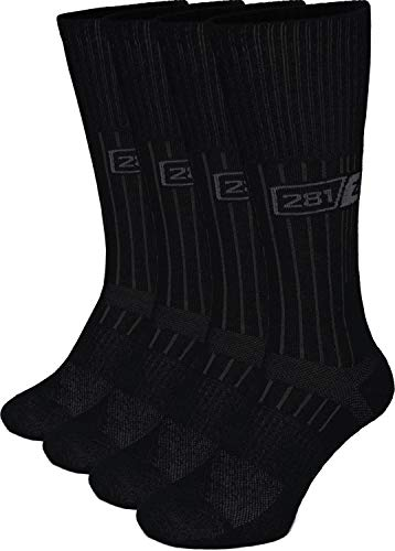 281Z Military Boot Socks - Tactical Trekking Hiking - Outdoor Athletic Sport (Black)(Small 4 Pairs Pack)