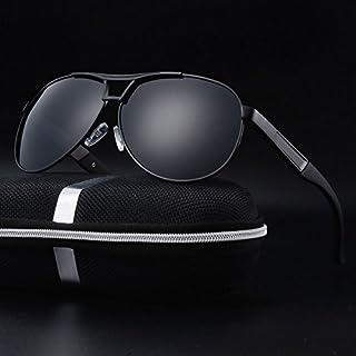TT WARE Mens Summer HD Polarized Sunglasses Vintage Outdoors Anti-UV Driving Goggle-Black