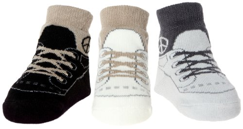 Baby Emporio-Baby & Toddler Socks with Sneaker Shoe Look-3 or 6 Pairs-Cotton-Anti-slip