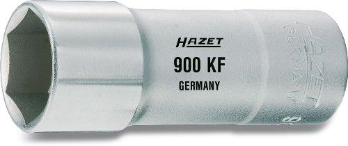 HAZET Douille à Bougies 900KF ∙ Carré Creux 12,5 mm (1/2 Pouce) ∙ Profil à 6 pans extérieurs ∙ Taille: 20.8 13/16 ∙ Longueur : 71 mm, Multicolore