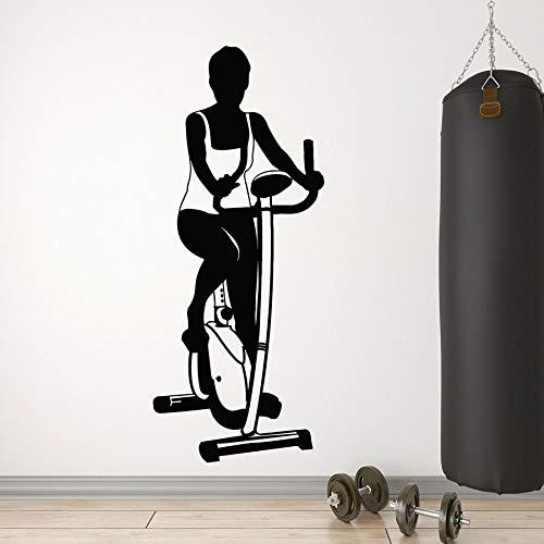 Tianpengyuanshuai gym wandsticker hometrainer sport gezondheid vinyl wandsticker meisjes slaapkamer hoofddecoratie wandtattoo
