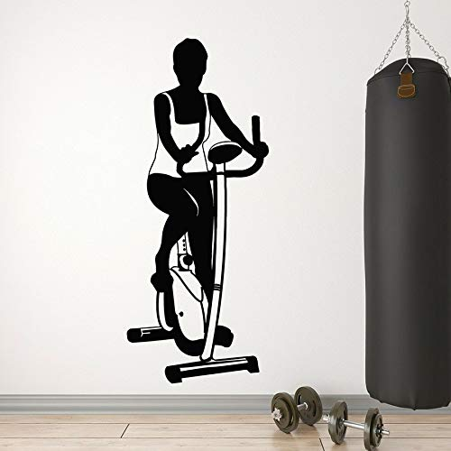 ASFGA Fitness Wandaufkleber Heimtrainer Sport Gesundheit Gesundheit Fitness Vinyl Wandaufkleber Mädchen Schlafzimmer Hauptdekoration Wandbild Fenster Glas Aufkleber 30x71cm