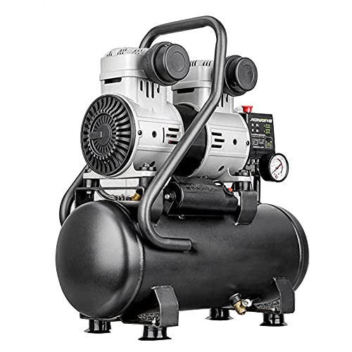 WUK Luftkompressor 700/1280W Tragbare ölfreie Luftpumpe Silent 6/15L für Heimreifen Beruf Aufpumpen Kompressor Sprühfarbe Dental Pneumatische Werkzeuge
