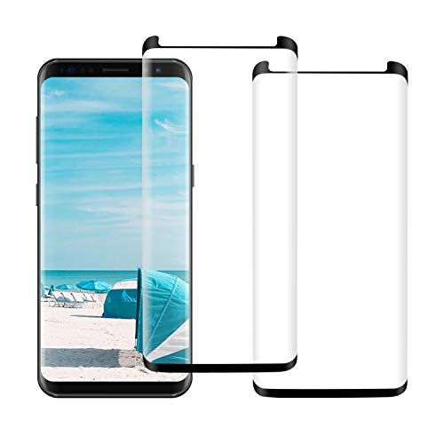 [2Pack] Galaxy S9 Screen Protector, 3D Curved Full Coverage [High Definition] [Easy to Install] [Anti-Bubble] [Anti-Scratch] for Samsung Galaxy S9 Screen Protector