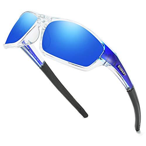 DUBERY Sport Polarized Sunglasses for Men UV Protection Driving Fishing Sun Glasses D620 (Blue/Blue)