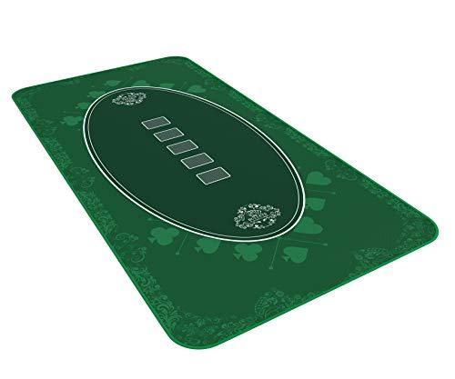 Bullets Playing Cards Designer Pokermatte grün in 160 x 80cm für den eigenen Pokertisch - Deluxe Pokertuch – Pokerteppich – Pokertischauflage