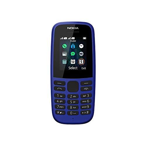 Nokia 105 Mobiltelefon (1, 8 Zoll Farbdisplay, FM Radio, 4 MB ROM, Dual-Sim) Blau, Version 2019