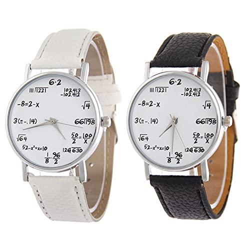 SIMEISM Love 2Pcsmath Elements - Reloj de pulsera para estudiantes, diseño geométrico