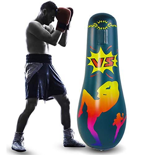 SANON Aufblasbarer Boxsack für Erwachsene, freistehender Boxsack, aufblasbarer Fitness-Boxsack für Kinder, zum Stressabbau, Fitness-Unterhaltung