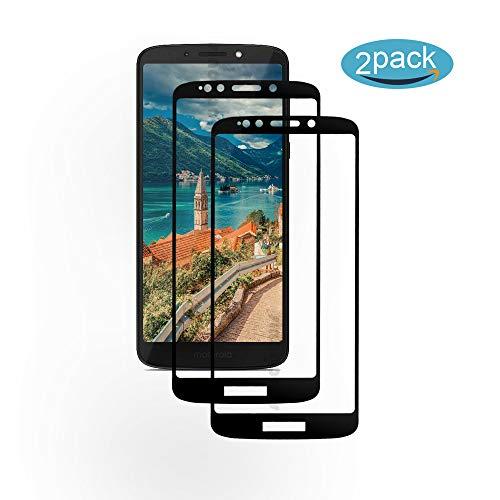 [2 Pack] Für Motorola Moto G6 Play Panzerglas Schutzfolie (Schwarz), Bildschirmschutzglas Panzerfolie für Motorola Moto G6 Play Schutzglas Folie [Ultra-klar] [9H Festigkeit] [Kristallklar] [Bubble Free]