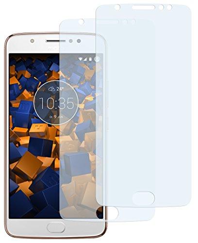 mumbi Schutzfolie kompatibel mit Lenovo Moto E4 Folie klar, Bildschirmschutzfolie (2X)
