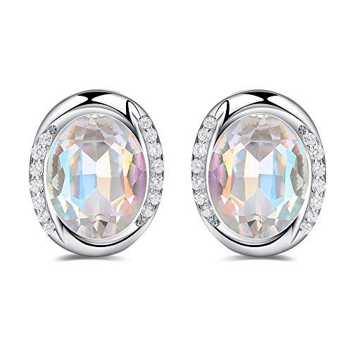 Rabbit Klassische Damen Ohrstecker Ohrringe,bunte Kristall,925 Sterling Silber,Mode und Elegante Geschenkidee.