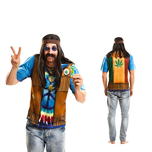 Partychimp – Hippie T-Shirt, Adulte, Marron