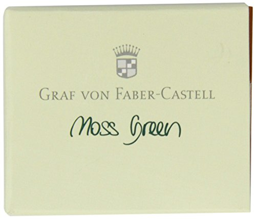 Graf von Faber-Castell 141104 Tintenpatronen,moosgrün