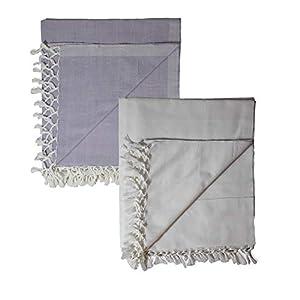 Riyashree Organic Cotton Silky Soft Bhagalpuri Dull chadar Blanket for All Season ( 53*96 in ) Combo Pack of 2 RiBCoDull…