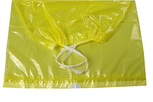 Deiss Premium - Bolsas de basura (70, 90 o 120 L), color amarillo, 90 Liter - 125 Stück, amarillo, 125