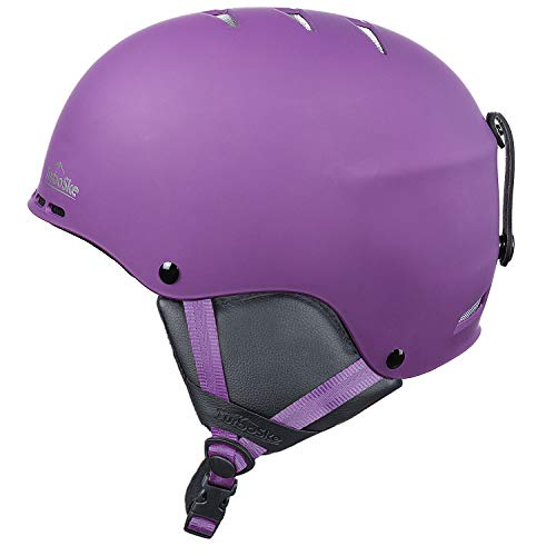 TurboSke Ski Helmet, Snowboard Helmet for Men, Women and Youth (S, Purple)