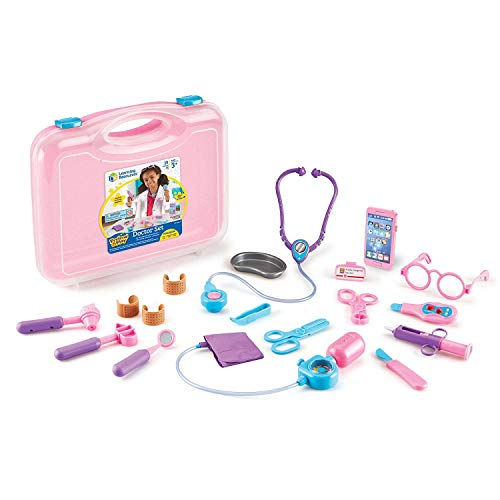 19-Piece Learning Resources Pretend/Play Doctor Kit for Kids (Pink) $17 at Amazon