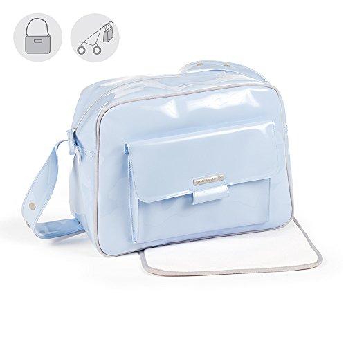 Pasito a Pasito–Tasche Einkaufskorb Lack Tweed Baby Blau