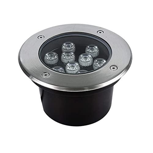 Faretto pavimento Calpestabile Luci a Led IP67 Impermeabile Luci interrate AC85-265V utilizzate per l'illuminazione esterni, giardini, terrazze, percorsi 9 tipi alimentazione, 6 colori luminosi (Col