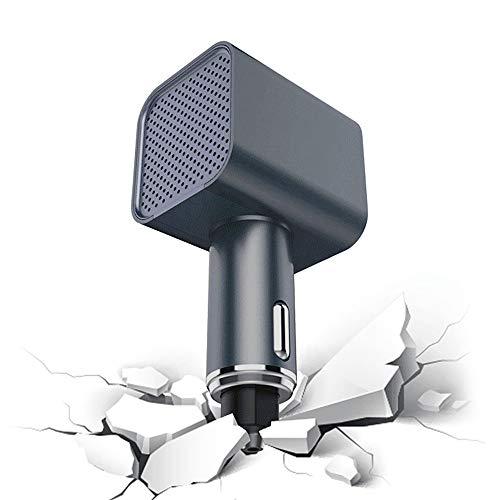 XXCLZ Auto Tragbare Luftreiniger, Fast Charge, Sicherheits-Hammer, Luftionisator, Entfernen Formaldehyd, PM2.5, Staub, Allergenen, Mit Zwei USB-Ports Schnellen Aufladung
