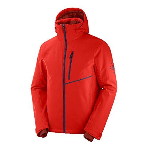 Salomon Herren Ski-Jacke, BLAST JKT M, Polyester/Elasthan/Polyamid, Rot (Goji Berry), Größe: M, LC1401300