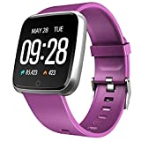 Semaco Smart Watches, <span class='highlight'><span class='highlight'>Fitness</span></span> Tracker Watch with Heart Rate Monitor, Sleep Monitor, Calorie Counter, Pedometer Stop Watch for Kids Women Men (Purple)