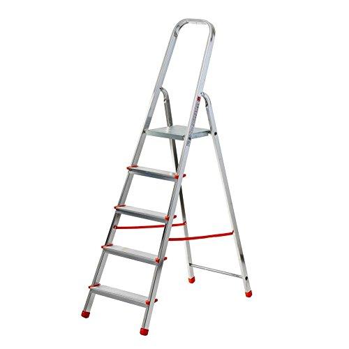 Scala Per Uso Domestico In Alluminio. Pratica E Leggera, Omologata Secondo Le Norme Vigenti. Portata Kg 100.