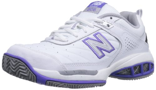 New Balance Women's 806 V1 Tennis Shoe, White, 10 XW US