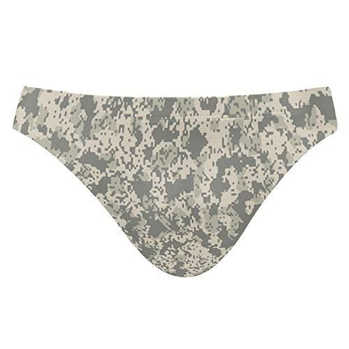 Chic Houses Men Swimming Trunks Digital Camouflage Elastic Waist Swim Briefs 2031266