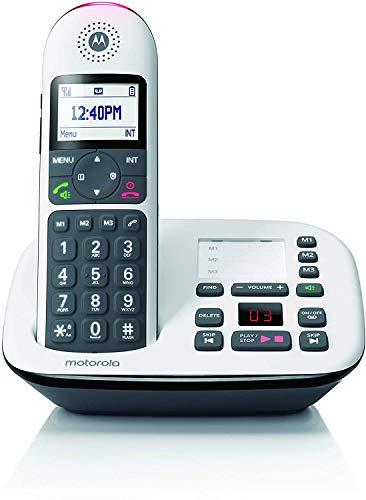 Motorola Lifestyle CD5011 - Téléphone numérique sans Fil avec répondeur - Blanc/Noir