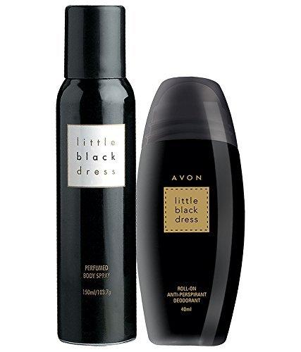 Avon New York Little Black Dress Body Spray + Roll on Deodorant-Pack of 2