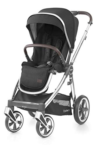 Babystyle Oyster 3 Pushchair Caviar Black on Mirror Chassis - Caviar