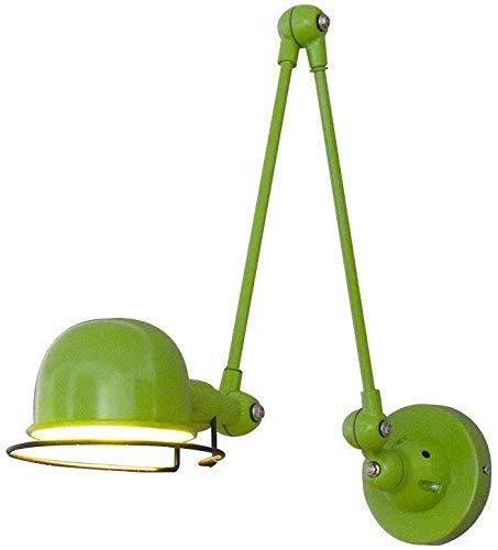 Eclairage mural Réglable Applique Rétro Escalier-vert Chambre Réglage du point Rotatif Arm Classic Design Coffee Shop (Color : Green 1)