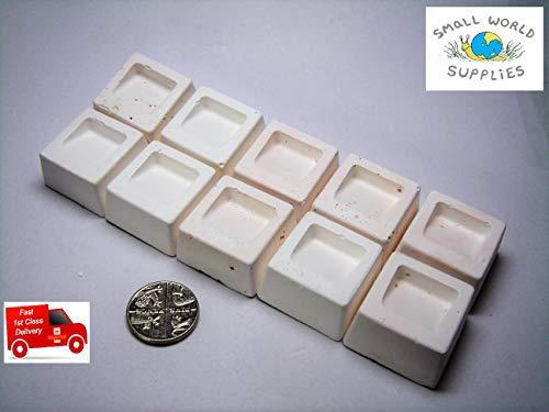 Smallworldsupplies Kalziumblöcke mit Mineralien für Aquarium, Zwergkirsche, Garnelen, Aquarium, Schnecken und Kaninchenschnecken (kleine Packung mit 20 Stück)