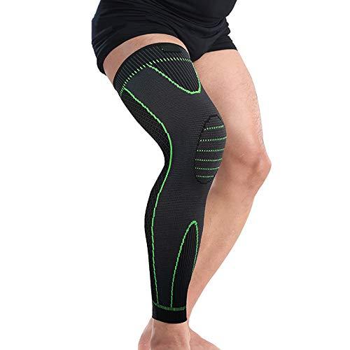 Joelheira de compressão RuiMing, unissex, caneleira de comprimento acima do joelho até a panturrilha, para exercícios esportivos e agachamentos, 1 peça, X-Large