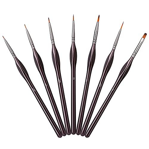 Amazon Basics - Set di pennelli di precisione per dipingere, 7 pezzi