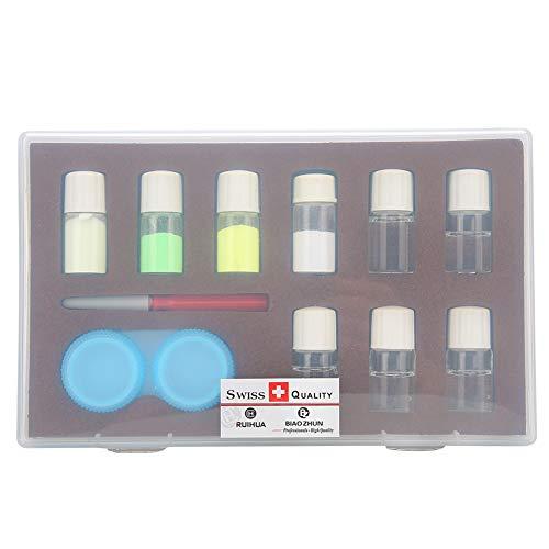 Herramienta de reparación de relojes, kit de polvo luminoso, embalaje de caja de plástico Líquido profesional + polvo para trabajadores de reparación de relojes Relojeros