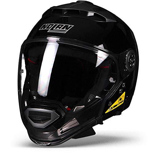 Nolan N44 Evo Classic N-Com Glossy Black Modular Crossover Motorcycle Helmet