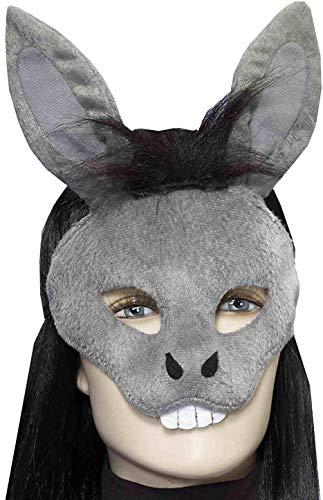Forum Novelties Men's Plush Donkey Mask, Gray, One Size