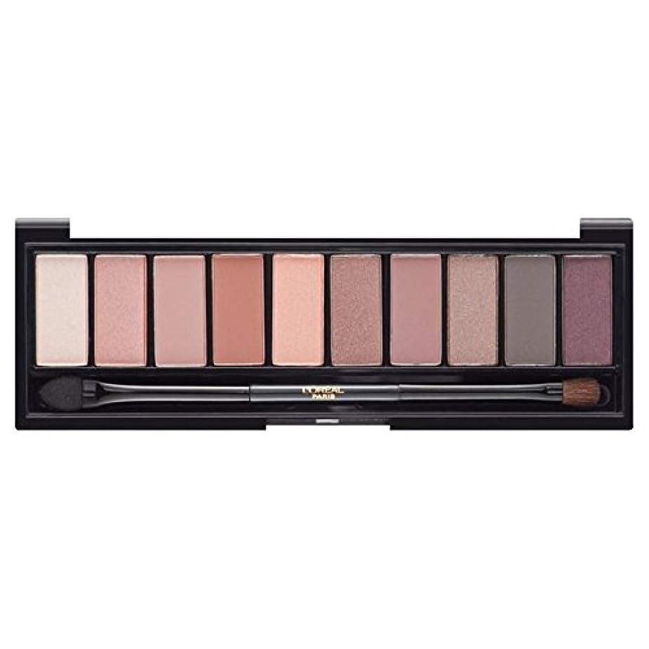 カプセル地理フォージロレアルパリカラーリッシュ?ラ?パレットのアイシャドウ、ヌードバラ x4 - L'Oreal Paris Color Riche La Palette Eyeshadow, Nude Rose (Pack of 4) [並行輸入品]